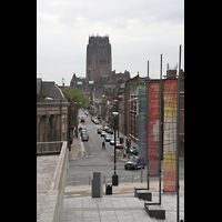 Liverpool, Anglican Cathedral, Blick vom Mount Pleasant / Metropolitan Cathedral zur Anglican Cathedral