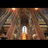 Liverpool, Anglican Cathedral, Orgel und Vierung