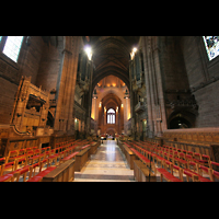 Liverpool, Anglican Cathedral, Blick vom Chor in Richtung Westwand