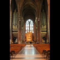 Liverpool, Anglican Cathedral, Chorraum mit Orgel