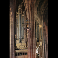 Liverpool, Anglican Cathedral, Linker Orgelprospekt