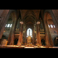 Liverpool, Anglican Cathedral, Querhaus mit Orgel