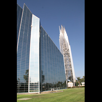 Garden Grove, Christ Cathedral (''Crystal Cathedral''), Glasfassade mit Turm