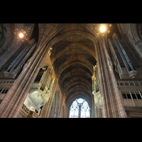Liverpool, Anglican Cathedral, Orgel perspektivisch