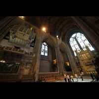 Liverpool, Anglican Cathedral, Rechter Chorraum mit Orgel