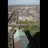 Liverpool, Anglican Cathedral, Blick vom Turm in Richtung Metropolitan Cathedral