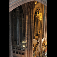 Liverpool, Anglican Cathedral, Linker Teil des Orgelprospekts