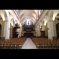Bordeaux, Notre-Dame, Innenraum in Richtung Orgel