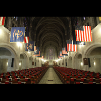 West Point, Military Academy Cadet Chapel, Innenraum in Richtung Chor