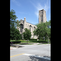 Chicago, University, Rockefeller Memorial Chapel, Außenansicht
