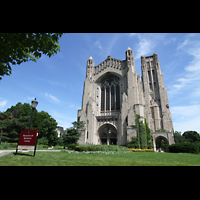 Chicago, University, Rockefeller Memorial Chapel, Fassade und Turm