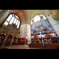 Chicago, University, Rockefeller Memorial Chapel, Altarraum mit Orgel