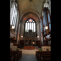 Chicago, University, Rockefeller Memorial Chapel, Chorraum mit Orgel