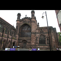Chester, Cathedral, Fassade (Westwand)