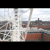 Liverpool, Anglican Cathedral, Blick vom Echo Wheel zur Kathedrale