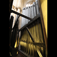 York, Minster (Cathedral Church of St Peter), Tiefste Pfeifen des Great Double Open Diapason 16'